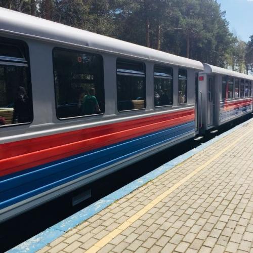 Посещение железной дороги в ЦПКиО